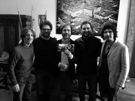 Motus Trio con il Sindaco di Rieti ed il direttore editoriale della Emme Record Label