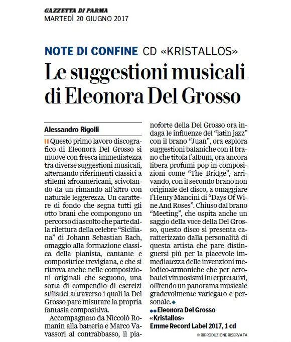 recensione Gazzetta di Parma